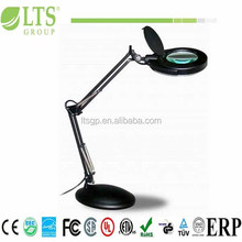 Spring arms Magnifying lamp with cover ;fluorecent bulb FCL 12W ,3Diopter lens