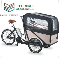 2015 hot sale Electric three wheel Cargo Bike/Cargo tricycle/UB9036E tricycle for adults