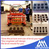 QCM4-30 movable diesel power concrete block molds for sale