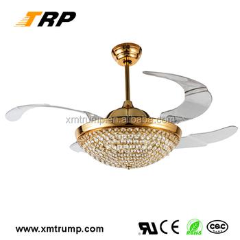 2015 Most Popular Decorative Crystal Ceiling Fan Light