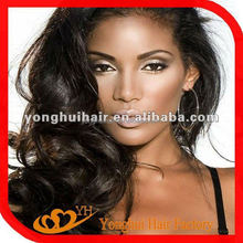 YongHui Raw Unprocessed Virgin Indian Hair Extensions Top Quality Wholesale Indian Human Hair