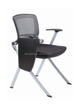 university chair school furniture for training room/ training chair with tablet/plastic training folding chair