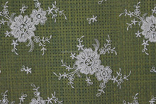 Elegant Beaded and Corded Flowering Embroidery Wedding Lace Fabric
