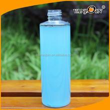 Clear Empty 250ml cylinder round bottle plastic wholesale