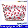 elegante design floral impressão beleza saco cosmético