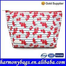 Elegant design Floral printing beauty bag cosmetic