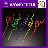 Disposable hard plastic funny drinking straws