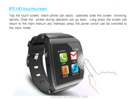 2014 hot sale new watch mobile phone 1.55'' touch screen with bluetooth
