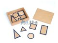 Montessori Geometric Solids Bases with Box