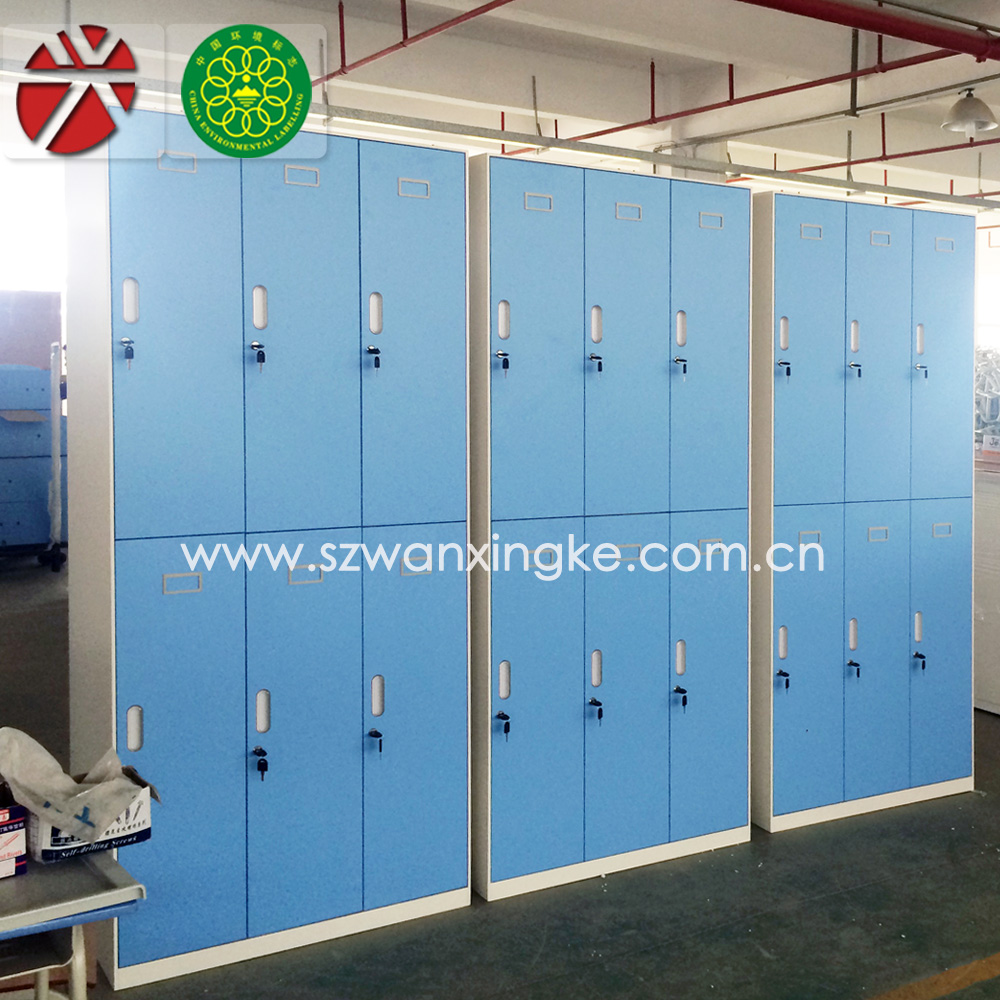 Metal wardrobe godrej steel almirah female changing room for Metal lockers ikea