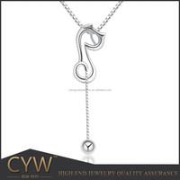 1 gram jewellery 925 Sterling silver pendants cartoon cat pendant jewellery