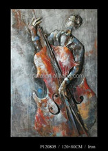High quality Musical instrument oil painting, Musical instrument metal carft painting