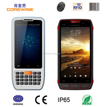 Corewise Rugged waterproof mobile phone Android WIFI GPRS Bluetooth handheld 1m middle range/ long range UHF RFID reader writer