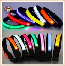 LED pet collar Waterproof light dog collars Six colors can be mixed batch of collar pet supplies