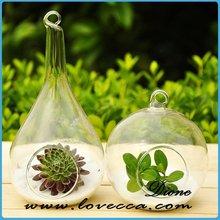 Colgantes terrarios, única forma de botellas de vidrio botellas decorativas globo cristal