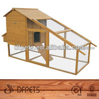 Chicken House With Large Run 6-8 Chickens DFC019
