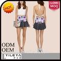 niza diseño floral mini falda sexy modelos