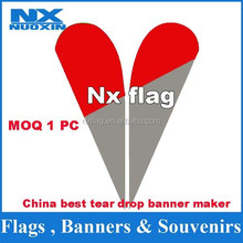 manufacture high quality series style teardrop flag wind flag