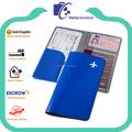 Wellpromotion barato promocional de cuero de imitación viaje cartera de viaje