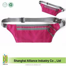 Rose Red Cell Phone Sport Polyester Running Waist Belt Bag