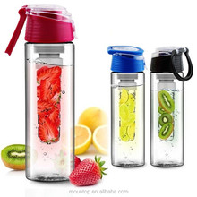 Hot new water bottle with infuser 2016 wide mouth protein shake bottle