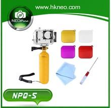 NEOpine Water diving kit+Red Filter+Multifunction Bobber Floating Handheld Stick for go pro+waterproof housing NPQ-5