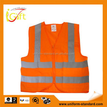 High quality roadway protective red reflective vest