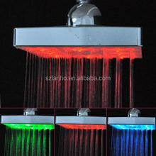 """3 cores LED 6 """" praça termostato auto geração de Top cabeça de chuveiro"""