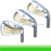 Luxurious forged golf irons in 1020 carbon CNC forming
