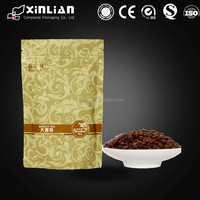 stand up kraft plastic paper bag for dried fruit/snack/nut/coffee/tea packaging bag