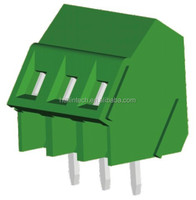 Inclined screw terminal block with wave side 5.08mm green pitch 2p-24p