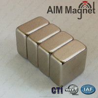 "N52 zn coated rectangel high quality 3/4 "" x 3/8 "" x 1/16"" magnet price puller"