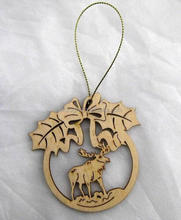 die cut christmas decorations wood hang on christmas tree decoration