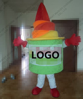 Professional made life size frozen yogurt mascot costume with nice hand made fit all adult unisex plush yogurt mascot costume
