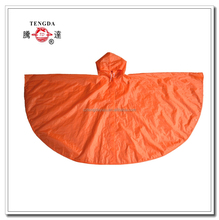 raincoat factory easy to carry orange adult rain coats