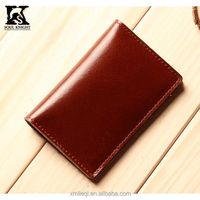 SK-7015 Slim card case top vegetable tanned leather