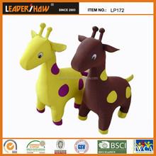 2015 new design giraffe toy/animal toy/plush diy animal shaped pillow