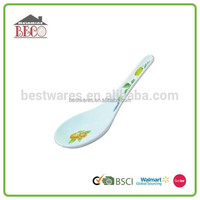 Household kids small fine melamine plastic soup spoon