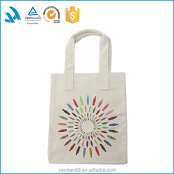 2015 new fashion high quality low price canvas tote shopping bag