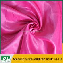 China keqiao proveedor mujeres en satén de seda lingeriel para forro de la ropa