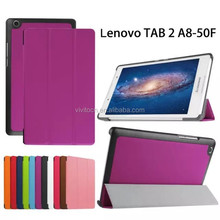 "2015 Super slim smart leather case cover for Lenovo Tab 2 A8-50 8"" stand leather case cover"