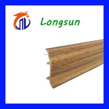 China skirting board / decorative pvc wood moulding baseboard