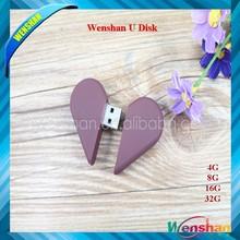 heart shape usb, usb memory for lover, plastic heart shape usb. Customize any LOGO