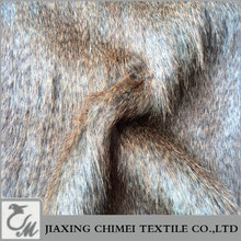 60mm 70mm long pile length for coat 80%acrylic+20%polyester print faux fur