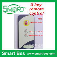 Smart Bes Customized 3 key equipment project remote control ,small infrared remote control 8m launch ,send C reference code
