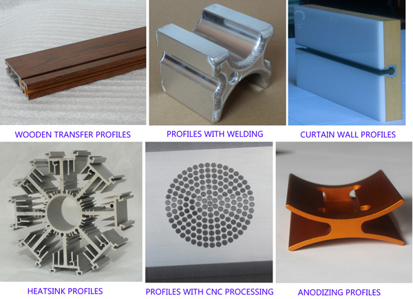 Large aluminum profile extrusion made as your drawing or sample