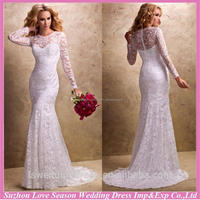 WD1268 New design with low price elegant lace long sleeve wedding dress