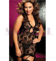 2267 lace elastic plump women sexy mature plus size lingerie