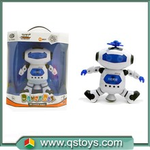 shantou children toys dance robot B/O,educational rotating toy with light and music