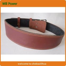 Factory wholesale waist support belt brown, weight lifting belt for fitness